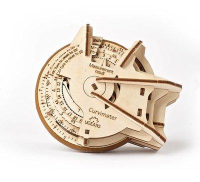 Ugears STEM 探險地圖測距儀 Curvimeter 測量曲線 維特魯威 張衡 羅蒙諾索夫 羅素·E·莫利斯
