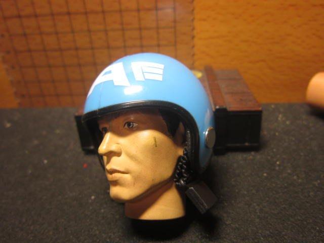RJ1休閒部門 淡藍色A字款1/6四分之三罩安全帽一頂(mini模型)