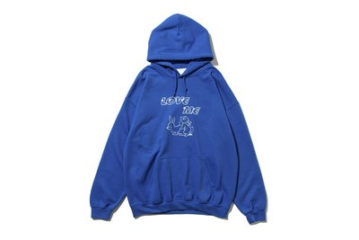 "[ LAB Taipei ] UNUSED "" US1808 PRINT SWEAT HOODIE "" (Blue)"