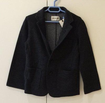日本設計師童裝品牌 Arch & Line 男童羊毛西裝外套(鉛灰色)-  clearance sale