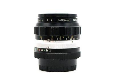 【高雄青蘋果3C】NIKON NIKKOR-O·C non-AI 35mm F2 AUTO 手動老鏡 #39790