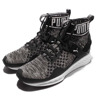 =CodE= PUMA IGNITE EVOKNIT 襪套編織慢跑鞋(黑白)189697-01 高避震 輕量 GD 男女