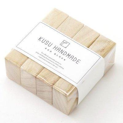 [霜兔小舖]日本代購 日本製 KUSU HANDMADE 楠樟木香薰木塊 (4入) 搭配精油使用