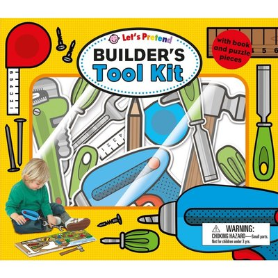 *小貝比的家*LET'S PRETEND BUILDER'S TOOL KIT /3~6歲/拼圖書