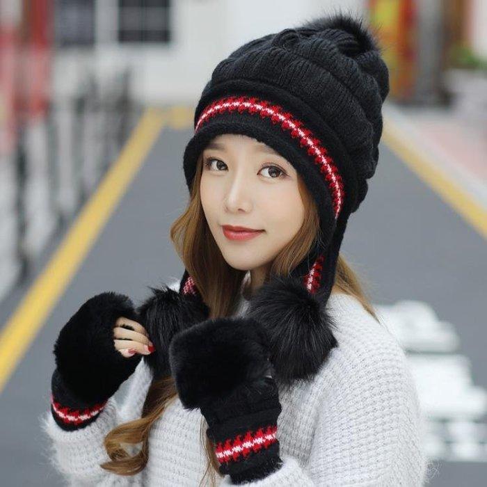 毛帽 毛線帽子女冬天韓版百搭甜美可愛針織護耳帽時尚加厚保暖兔毛帽潮