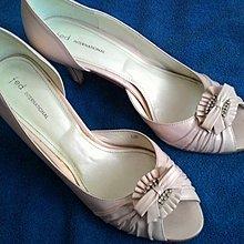 Fed international 粉色 高跟涼鞋 新娘鞋 38.5