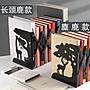 可伸縮書立架ins風創意小學生用書架書夾簡易桌上摺疊收納BLBH