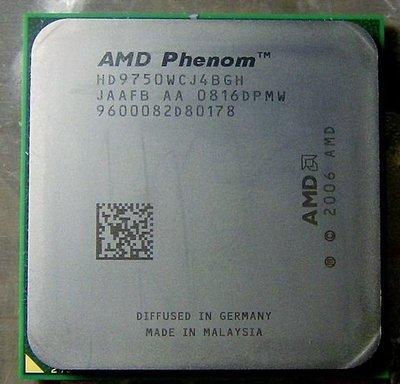 X4 9750 95W 4核心 CPU AMD Phenom HD9750WCJ4BGH AM2 四核心 X2 X3
