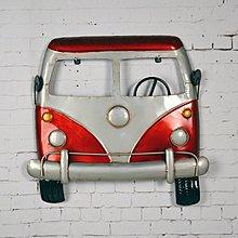 復古鐵皮巴士簡約現代歐式客廳書房牆壁掛件掛牆上的汽車*Vesta 維斯塔*