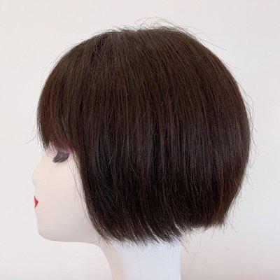 整頂假髮真髮絲短假髮-自然修臉直髮手織女假髮2色73vr15[獨家進口][米蘭精品]