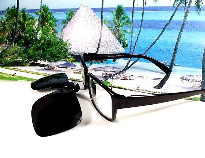 天王星 偏光太陽眼鏡夾片 大型方款 45MM 掛式太陽眼鏡 輕巧 偏光夾片/ 夾式太陽眼鏡 今夏必備 開車 休閒必備