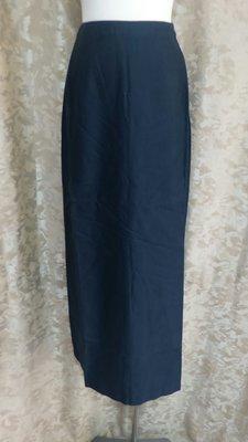 ~麗麗ㄉ大碼舖~#6-12(27-31吋)卡其/黑色側扣式長裙~
