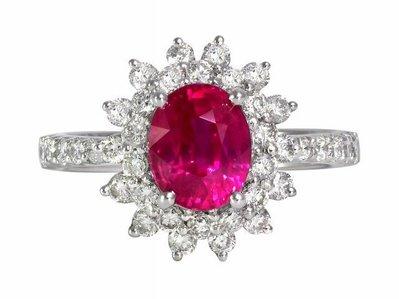 《御典品》GIA天然紅寶石戒指(女) 2.04克拉 緬甸產 豪華貴氣款 編號J30362
