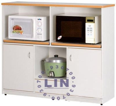 【品特優家具倉儲】045-15餐櫃收納櫃塑鋼微波爐架E-012石花