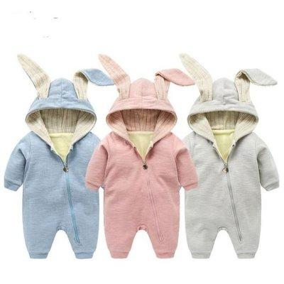 嬰兒連體衣 加絨冬季新生兒女寶寶外出服哈衣 JA3305