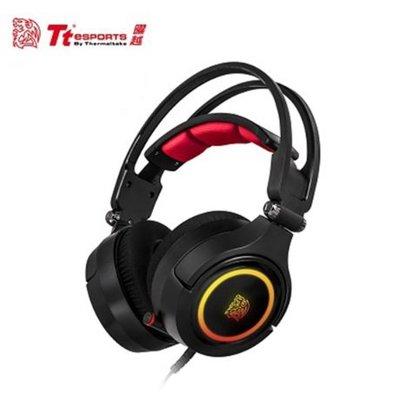 富廉網 暑期促銷【Tt eSPORTS】克諾司 Riing RGB 電競耳機 (HT-CRA-DIECBK-20)