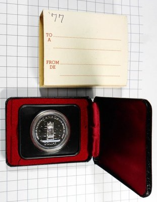 DB096 加拿大1952-1977年 登基加冕週年DOLLAR銀幣 盒裝 重約23.3g 高雄市