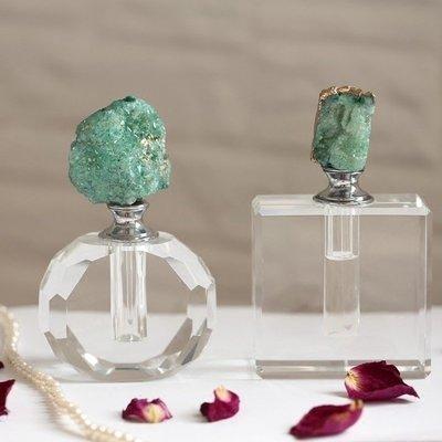〖洋碼頭〗印度進口瑪瑙石水晶玻璃切割花紋香水瓶 空瓶  飾品擺件 shx227