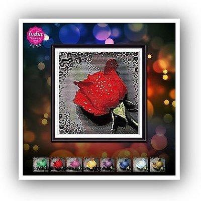 yes99buy加盟-鑽石畫最새로운十字繡滴水玫瑰圓鑽鑽石繡