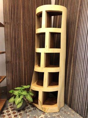 雨木一體成形展示櫃書櫃-Solid Bookcase
