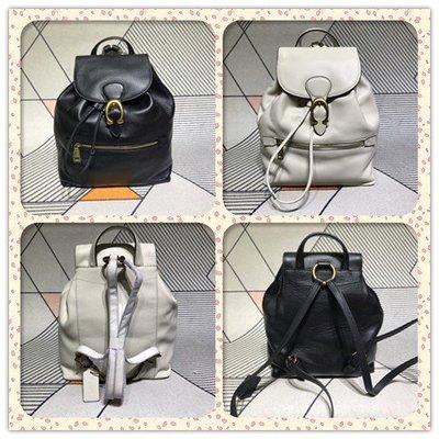 DanDan代購 美國正品 COACH 68380新款 女士翻蓋抽繩雙肩背包 C搭扣雙肩包 Evie背包 旅行包 附購證