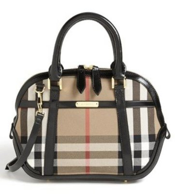 Burberry Bridle house check  Small Orchard Bowling 3853772 black