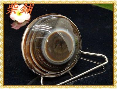 【柴鋪二館】天然西藏老礦天眼石 原礦羊眼板珠天珠 (編號B-22)(單品實拍)