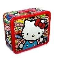 GIFT41 4165本通 三重店 loungefly hello kitty KT 鐵製收納盒 午餐盒 萬用收納盒LFSANLB0045