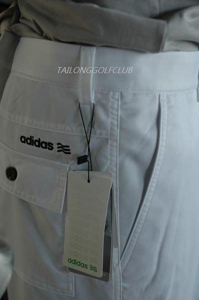 (零碼36腰)全新 adidas Golf 高爾夫 白色長褲 運動時尚科技布料全新體感#夏季薄長褲
