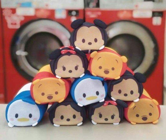 天使熊雜貨小舖~迪士尼Tsum Tsum洗衣袋 日本製  現貨:米奇、米妮、維尼、奇奇4款  全新現貨