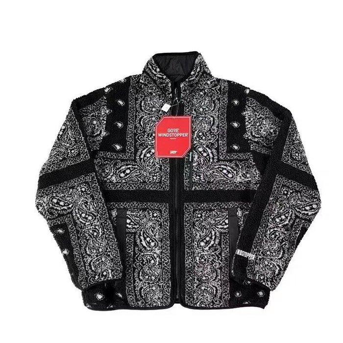 全新商品 Supreme 19FW Reversible Bandana Fleece 腰果花 絨毛 雙面 外套
