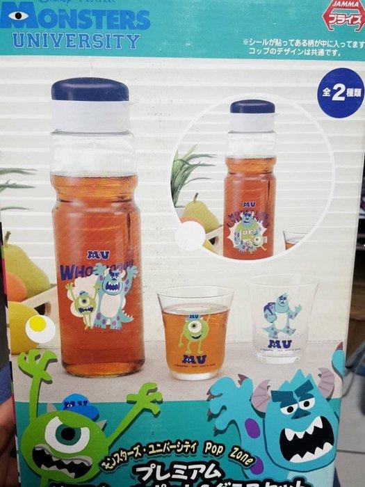41+ 現貨不必等 正版授權 景品 怪獸大學 玻璃壺+玻璃杯 全二款   my4165