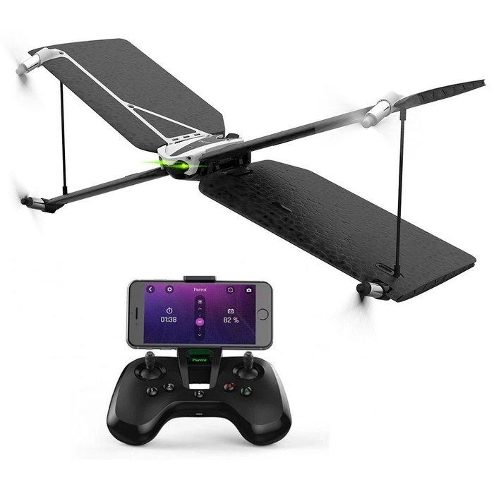 【傳說企業社】派諾特Parrot swing + Flypad控制器 速影X翼四軸無人機空拍機滑翔直升翼
