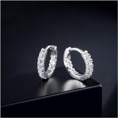 925純銀 耳 環 鑲鑽耳飾-精緻閃耀亮眼時尚女飾品73qk16[獨家進口][巴黎精品]