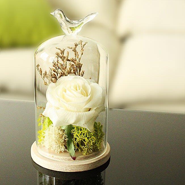 假花瓶 假花 仿真花 花器 花盆 玻璃 年花zakka永生花擺件玻璃罩創意家居客廳工藝裝飾品擺設生日結婚禮物