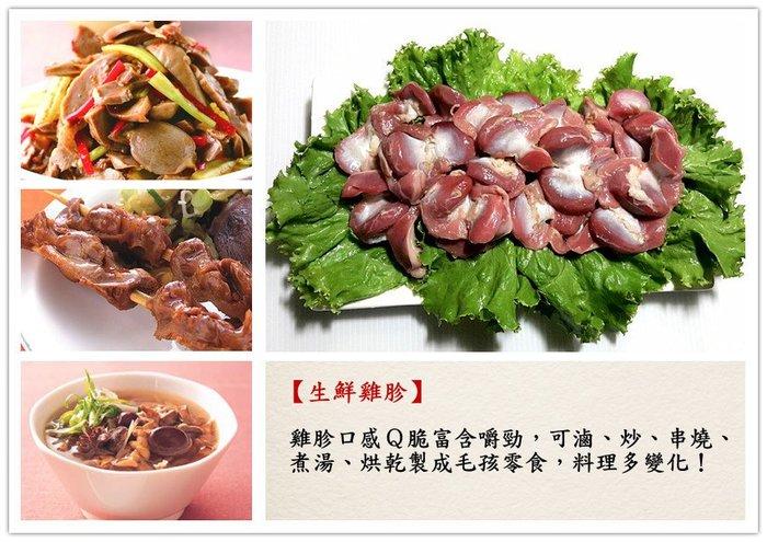 【生鮮 雞胗 300克】雞胗Q脆富含嚼勁 可滷 炒 串燒 煮湯 製作毛孩安心零食 CAS衛生電宰『即鮮配』