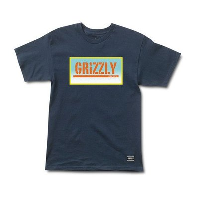 [WESTYLE] Grizzly Griptape Sunrise Stamp Tee 深藍 短T