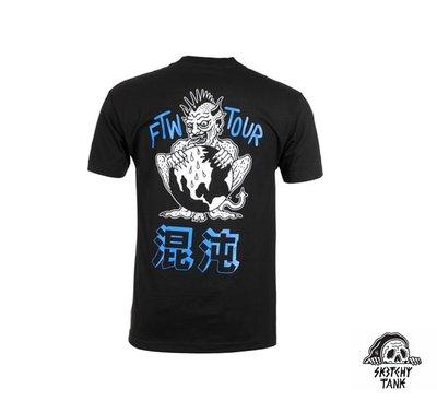 GOODFORIT / 美國Sketchy Tank FTW T-Shirt龐克惡魔漢字元素短袖上衣