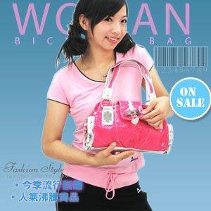 【推薦+】桃心漆皮時尚手提包C99-23手拿包.側背包.流行包包.收納袋.隨身包.哪裡買專賣店