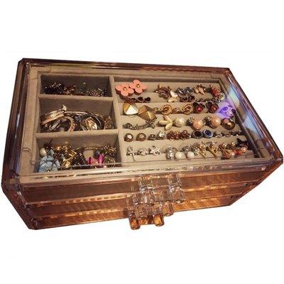 首飾盒公主歐式韓國手飾品首飾收納盒透明塑料耳環耳釘發首飾盒子   全館免運