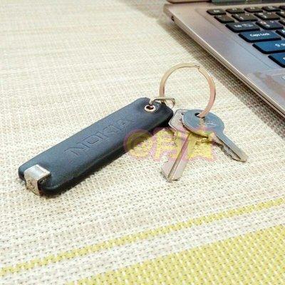 NOKIA 原廠限量 LOGO款 皮革鑰匙圈 吊飾 紀念品 收藏品 交換禮物 黑色