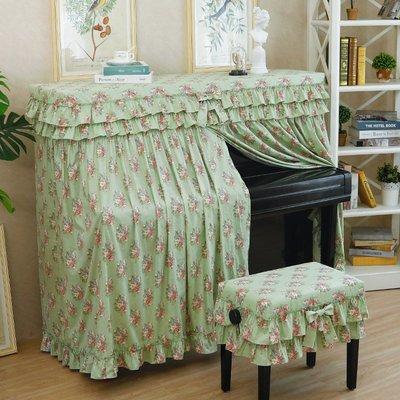 SUNNY雜貨-天使雅兒棉鋼琴罩半罩美式全罩布藝田園碎花條紋鋼琴套防塵罩#防塵罩#家居用品