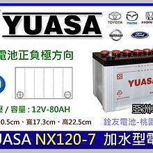 ☆銓友電池☆桃園電池☆實體店面 YUASA NX120-7 加水保養型汽車電池 GRAND STAREX 2.5柴油