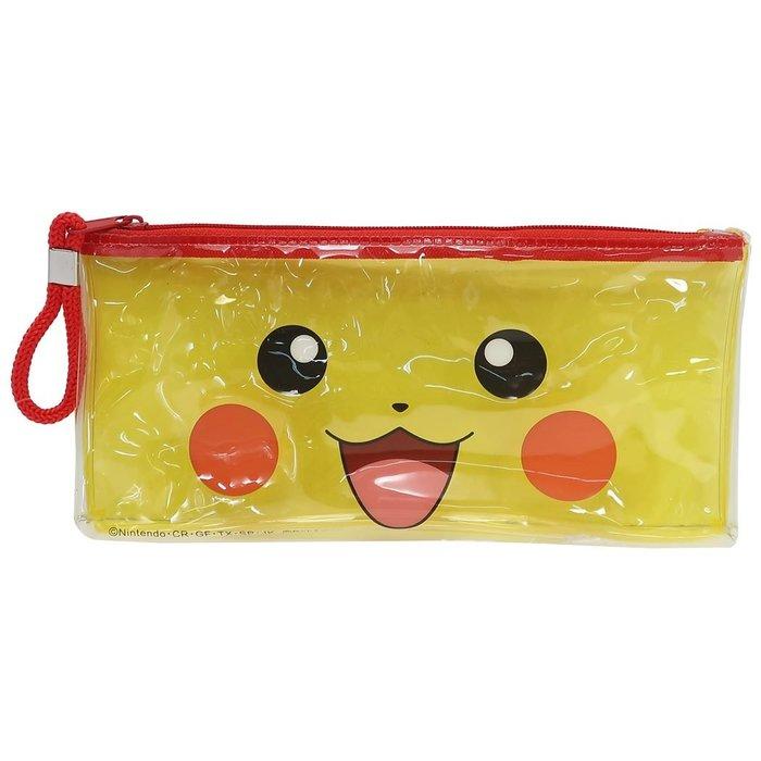 寶可夢皮卡丘Pokémon透明筆袋附鎖扣,鉛筆盒/筆盒/筆袋/筆筒/文具/收納,X射線【C170791】