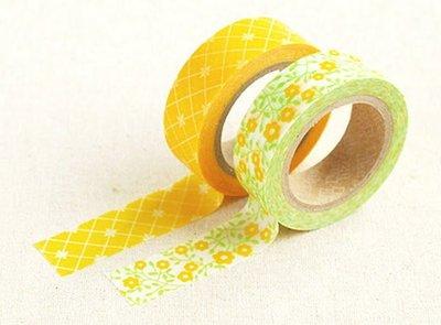 *YOOWOO*A【韓國 Decorate YOUR item 多功能裝飾 15mm 和紙膠帶 貼紙 ~ Lemon Tree 檸檬樹】一組2入