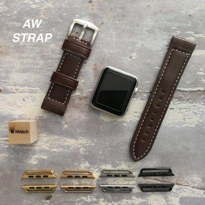 Apple Watch Buffalo Strap 深棕色水牛皮錶帶  蘋果手錶錶帶 (錶扣及連接器可換顏色) 38mm/42mm/44mm