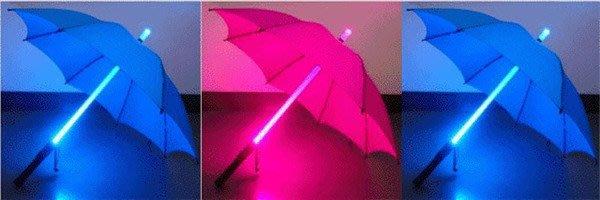 【安鑫】創意LED七彩自動發光雨傘星際雷射傘光劍傘晴雨傘長柄傘創意傘手電筒功能!【A128】