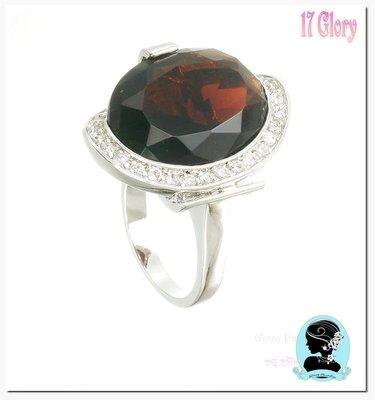 宴會女王禮服最佳搭配 茶晶鑽 大鑽戒指...