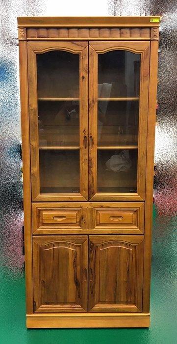 【宏品二手家具館】中古HM3063AC*幸福香樟書櫃中抽* 書架 書櫥 高底櫃 展示櫃 收納櫃 中古傢俱拍賣電視櫃