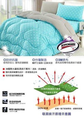 【精靈工廠】3M吸濕排汗專利防螨抑菌1.3KG雙色點點羽絲絨被6x7呎/ 3色B0810 新北市